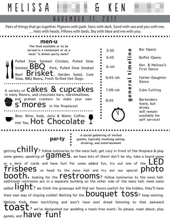 Funny Wedding Programs Wedding Program Ideas Pinterest Funny