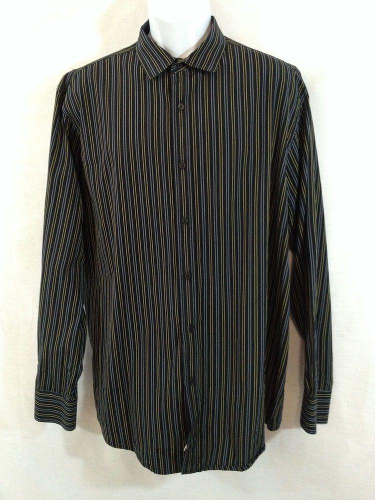 Mens material london shirt blue striped xxl 2xl button