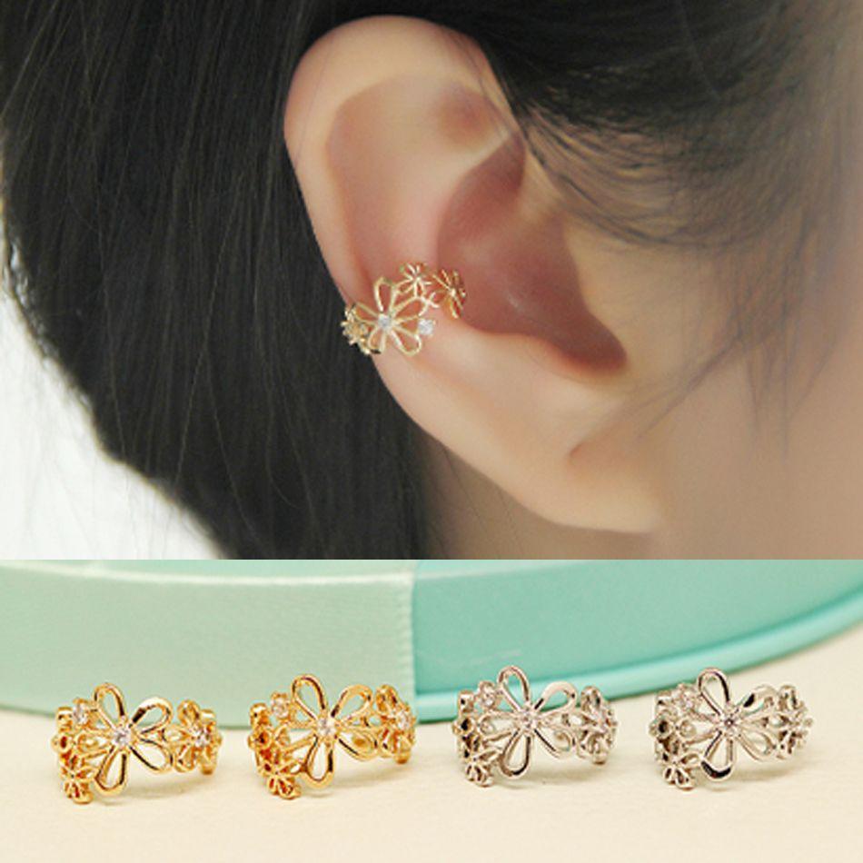 Jewelry & Accessories Earrings Crystal Heart U Shape Clip Cuff Earring No Ear Hole For Women Korean Ladies Fashion Girl Female Ear Accessories Birthday Gift