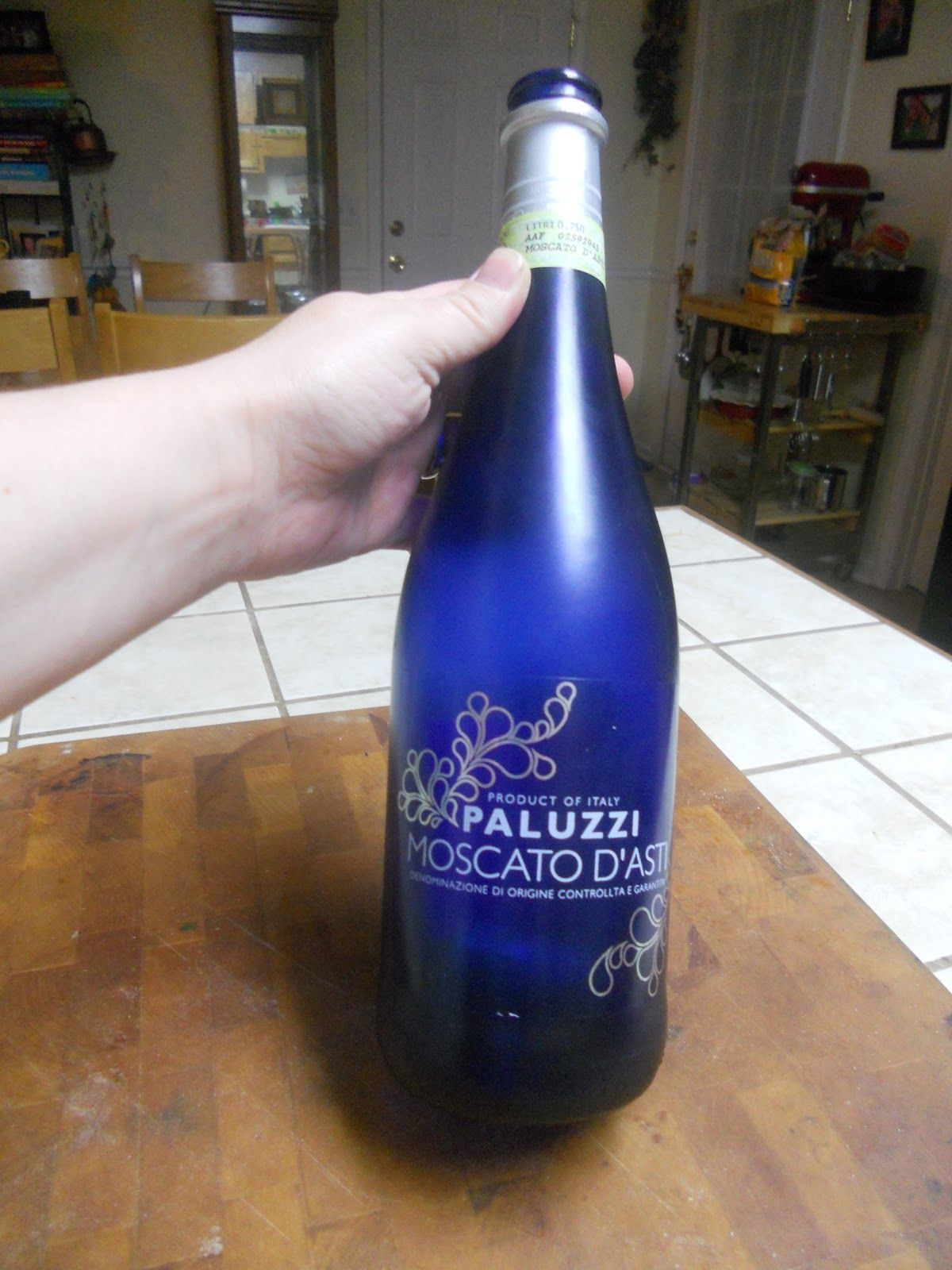 Moscato Sparkling Wine Blue Bottle