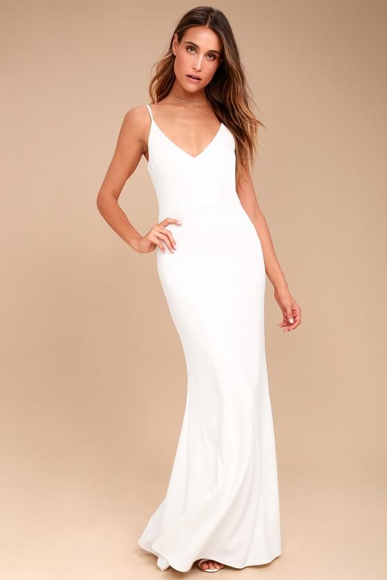 Infinite Glory White Maxi Dress In 2020 White Maxi Dresses White Lace Maxi Dress Ivory Maxi Dress