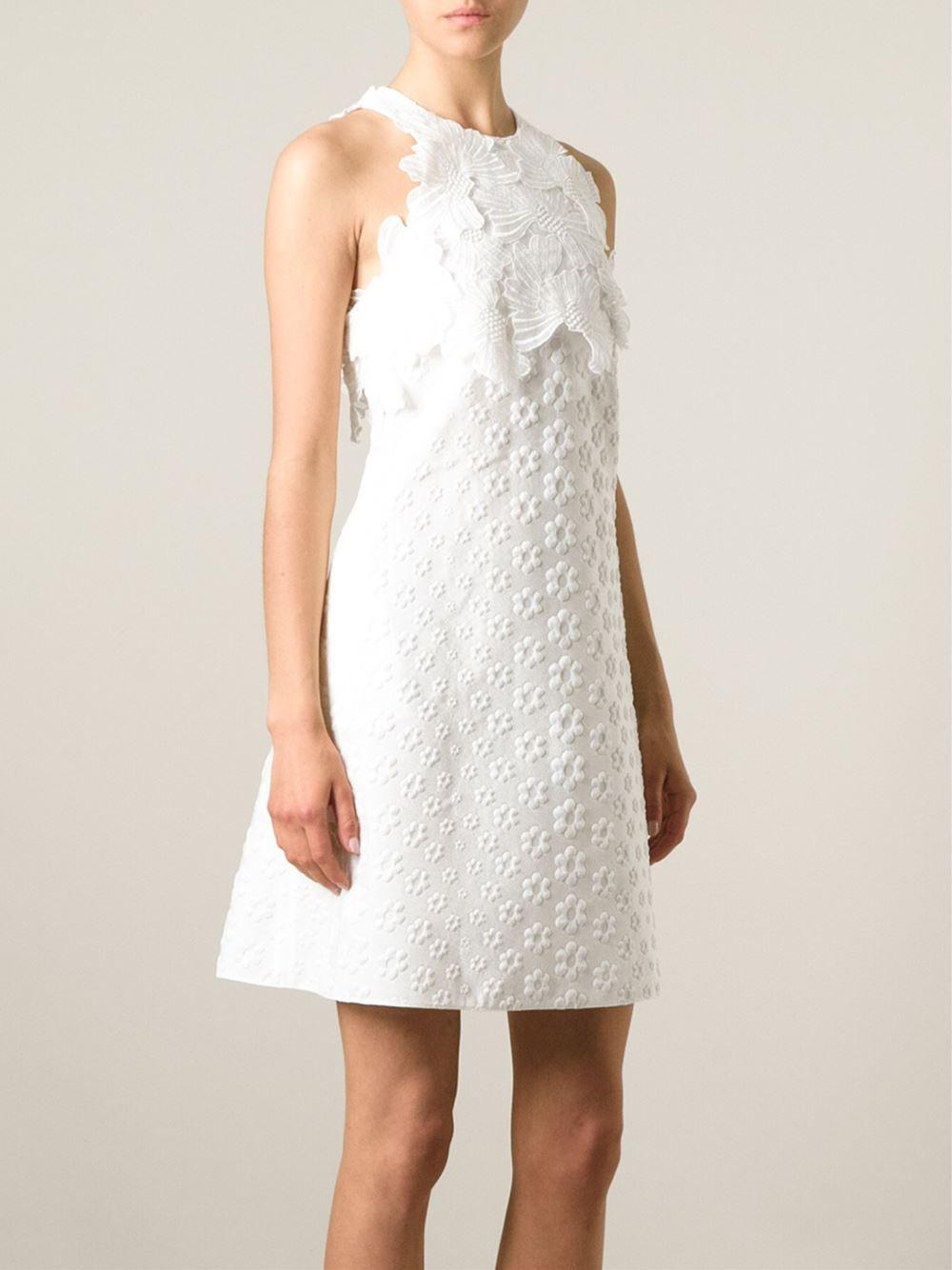 Giamba Flower Appliqué Jacquard Dress - Eraldo - Farfetch.com