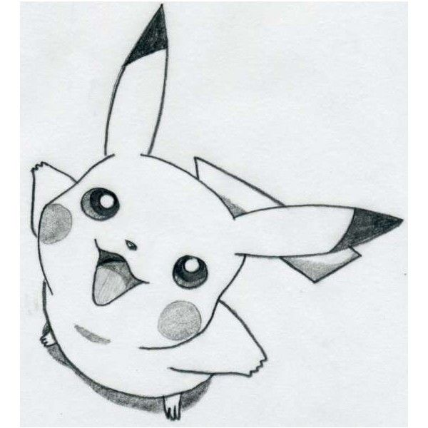 how to draw pikachu liked on polyvore