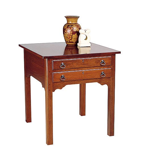 Best Cherry End Table Lightly Distressed By Colonial 400 x 300