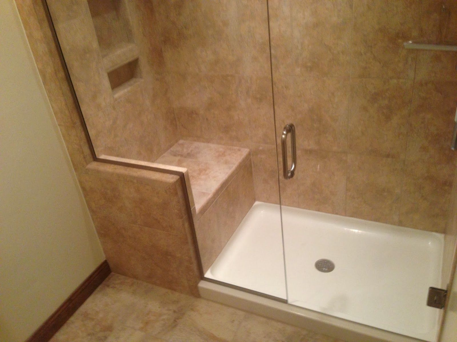 Shower Stalls With Seats Built In Glass Shower Enclosures