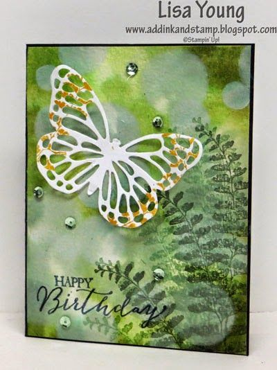 Details for Butterfly Bokeh card