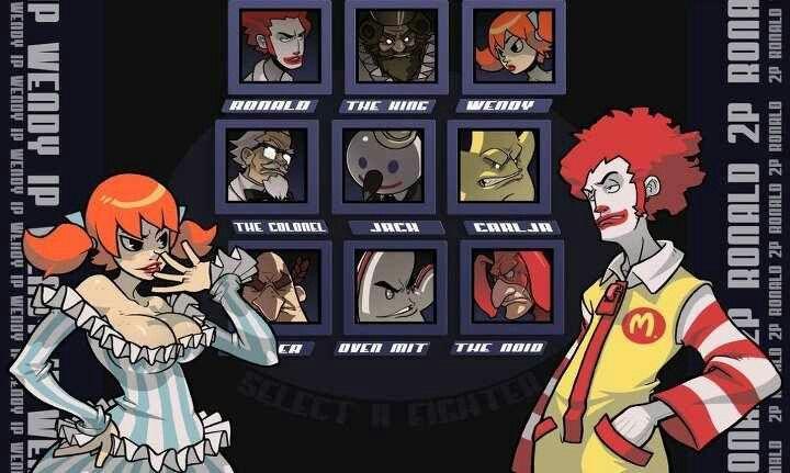 Ronald Vs Wendy Fighting Games Carl S Jr Fan Art