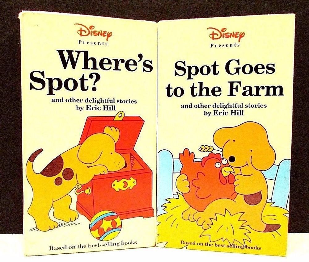 Walt Disney Home Video Vhs Discover Spot Goes And Where S Spot Lot Of 2 Disney Home Walt Disney Vhs