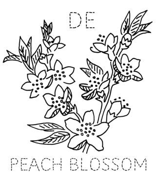 Delaware Peach Blossom Floral Embroidery Patterns Sewing Art