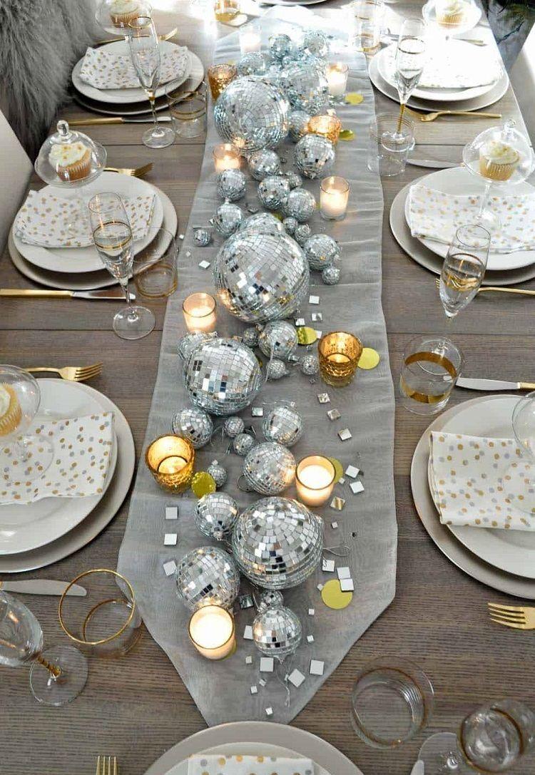 Bougie Décoration De Table déco table nouvel an à faire soi-même : les objets déco