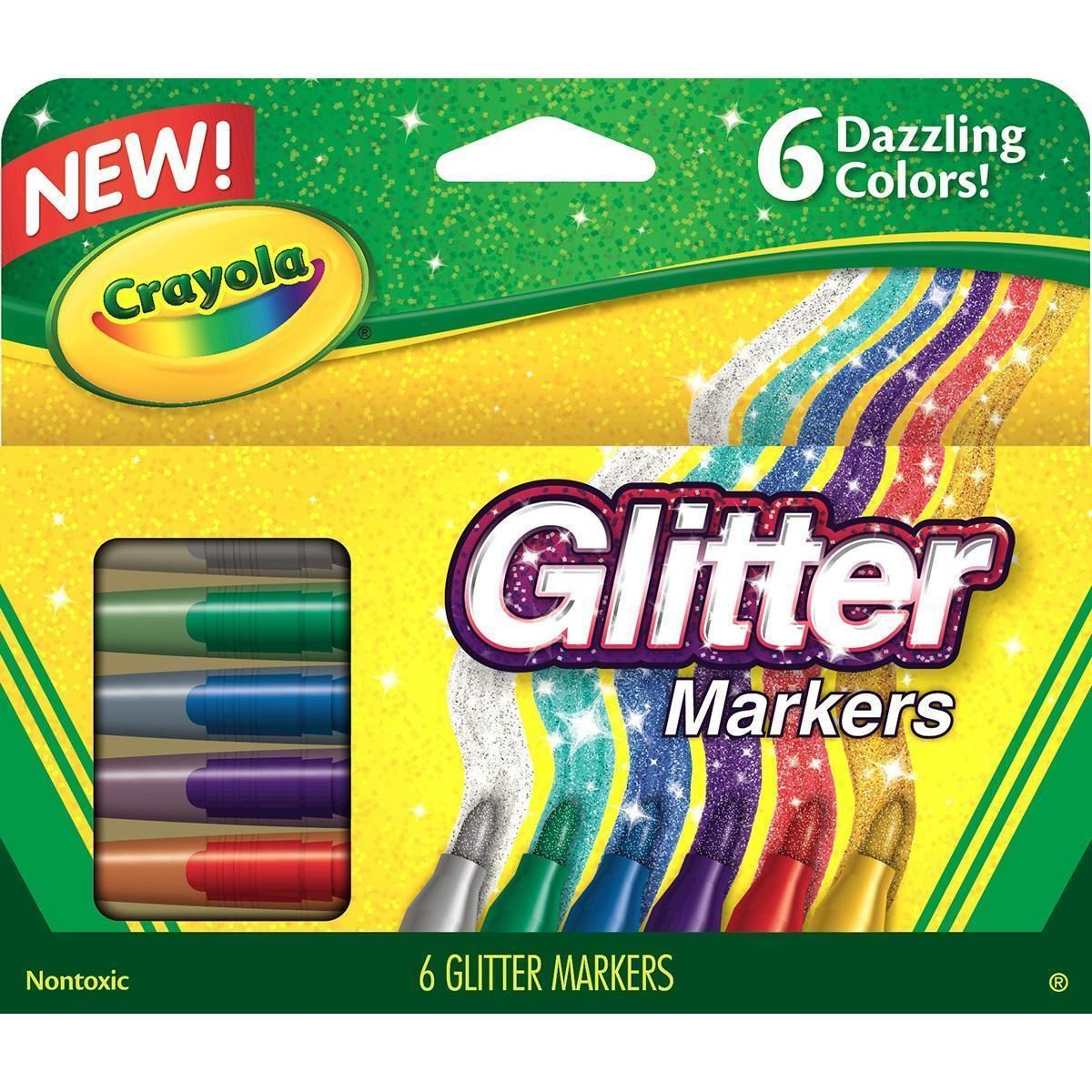 Crayola; Ultra-Clean; Stamper Markers; Art Tools; 10 ct Bold Washable Colors; Emoticons Markers; Bright