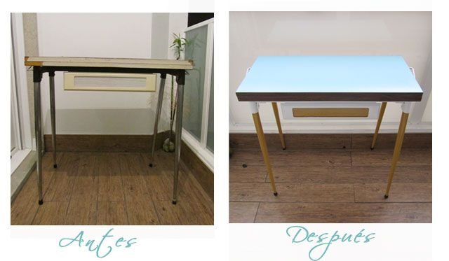 Before and after my new table