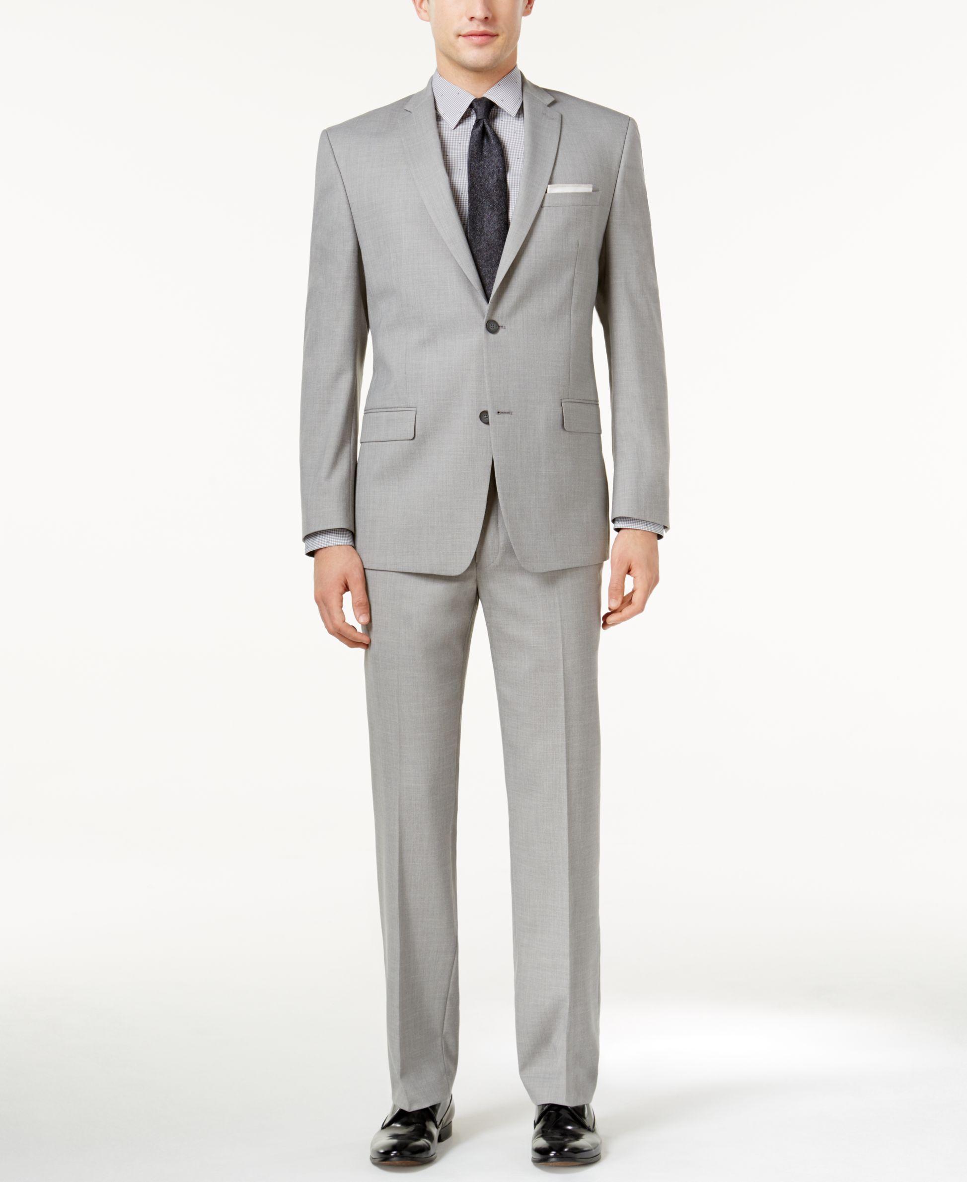 men slimfit light p fit gray pants suit modern clothing mens slim separate madison s