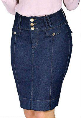e2fc6ff93 3897-Saia Jeans- Row-an  denimskirtfalda Faldas Elegantes