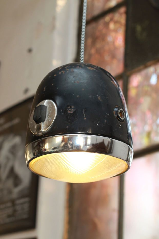 Vintage Automotive Headlights Turned Unique Lamps = Great Look - Airows