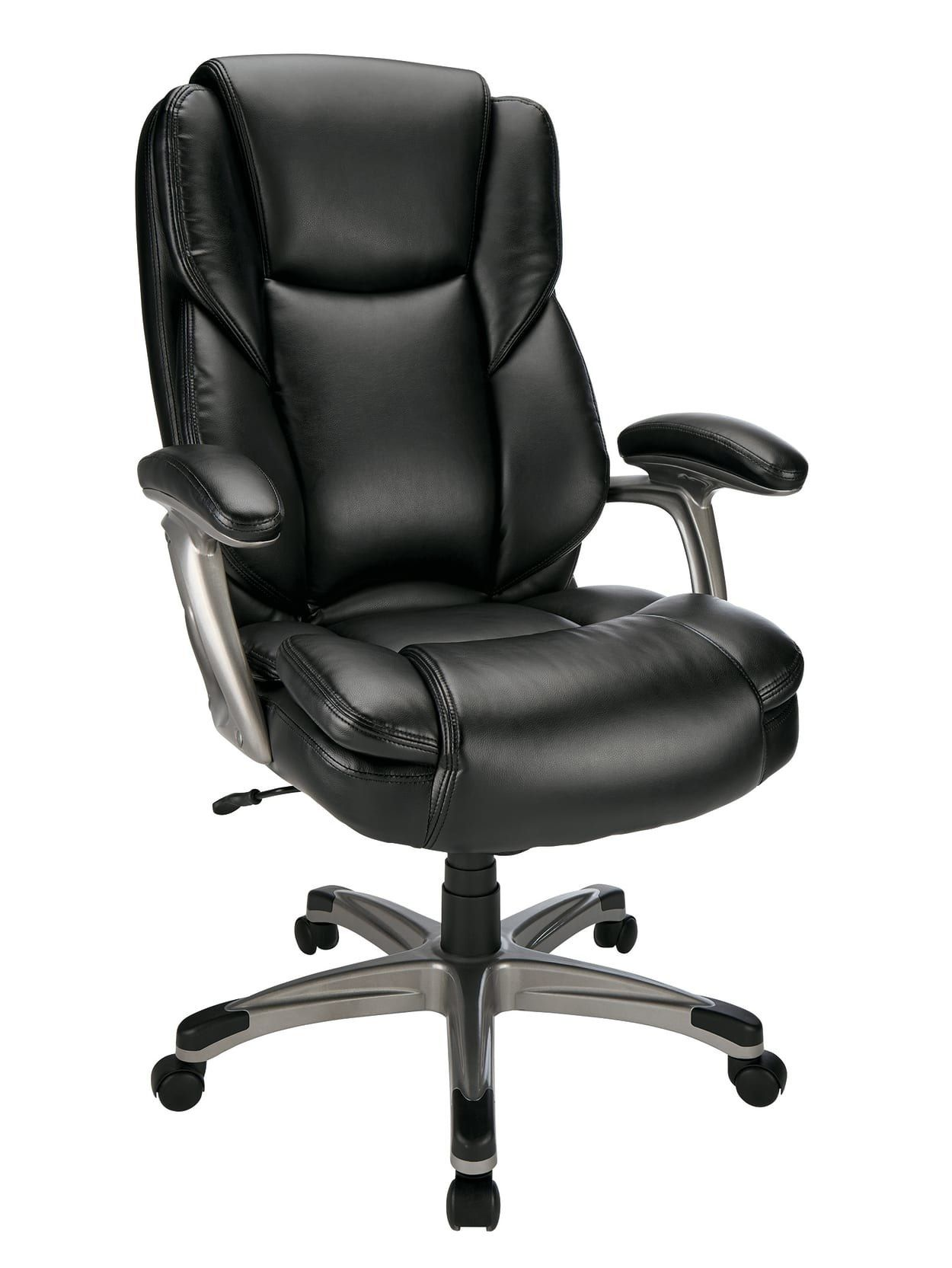 130 Off An Ergonomic Desk Chair To Upgrade Your Seating Situation Bonded Leather Chair High Back Chairs Leather Chair