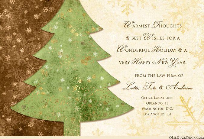2018 Artistic Christmas Tree Card Photos Holiday Golden Business Christmas Greetings Business Christmas Cards Company Christmas Cards