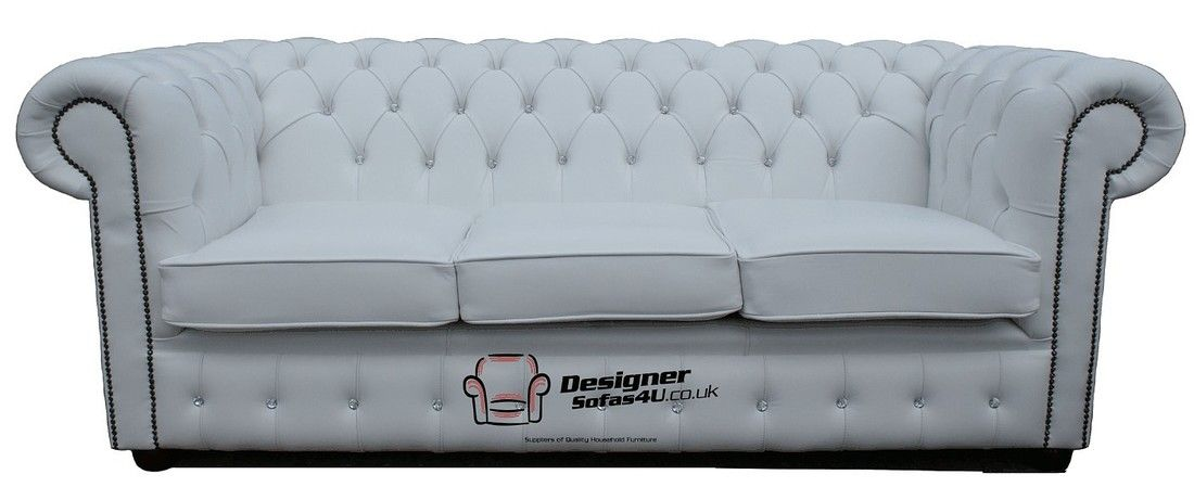 Chesterfield Crystal Diamond White Leather Sofa Offer White Leather Sofas Sofa Diamond Shop