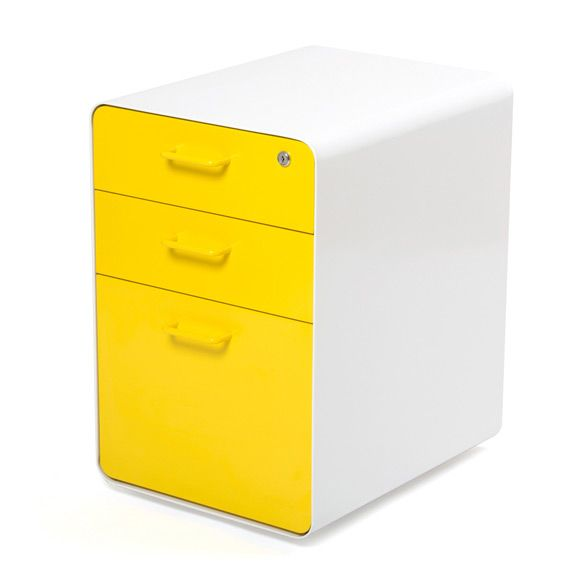 White Yellow West 18th File Cabinet 200 Also Available In Black Lime Green Orange Purple B Filing Cabinet Office Furniture Modern 3 Drawer File Cabinet
