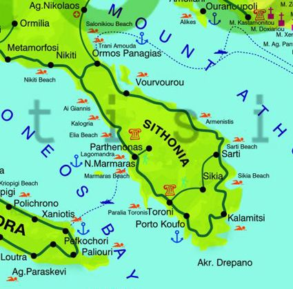 Sithonia Maps Pinterest
