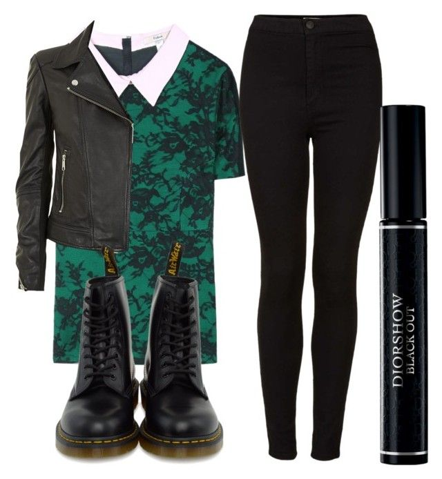 """""""Sin título #852"""" by valeria-reyna ❤ liked on Polyvore featuring beauty, Erdem, Whistles, Topshop, Dr. Martens and Christian Dior"""