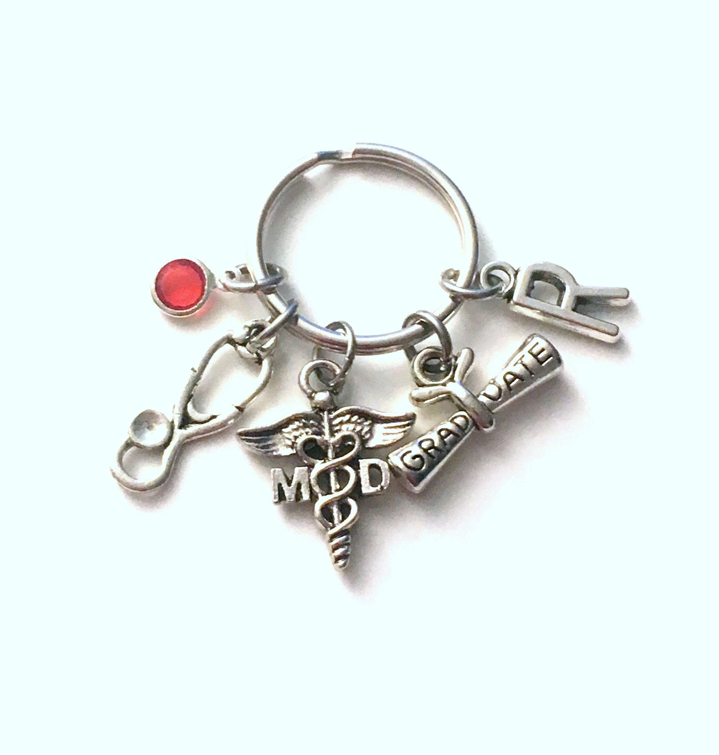 Graduation gift for md keychain medical doctor key chain