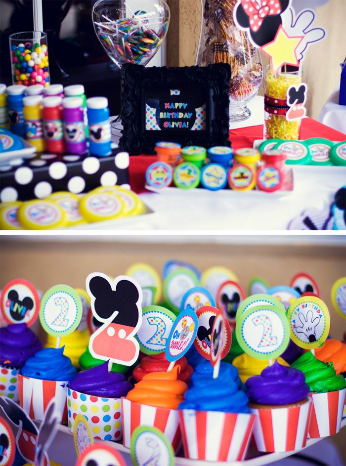 Mickey Mouse Clubhouse 2nd Birthday Party Liz Dikinson Photography Parties Cupcakes Mickeymouse