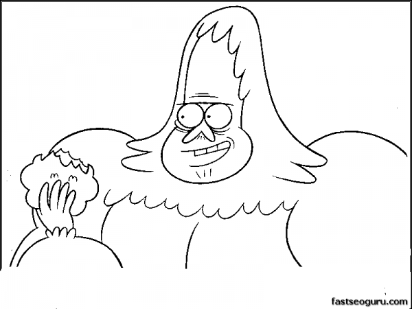 Cartoon Print Out Skips Regular Show Coloring Pages
