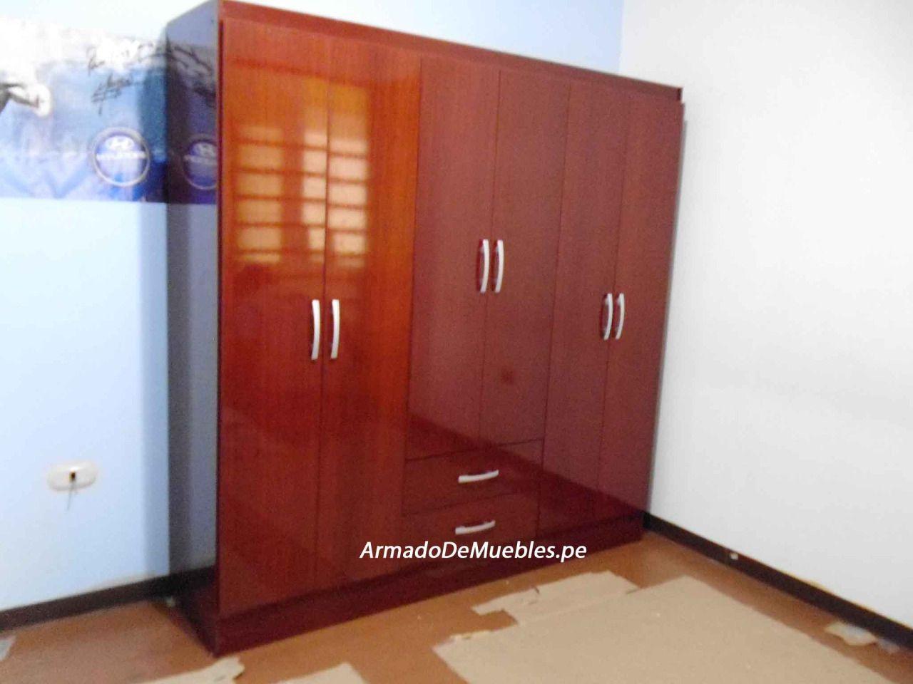 Ropero 2 puertas 2 cajones chocolate de Sodimac Homecenter.   Armado ...