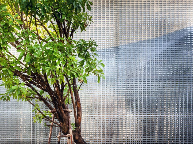 Archismith creates secret garden within The Glass Fortress