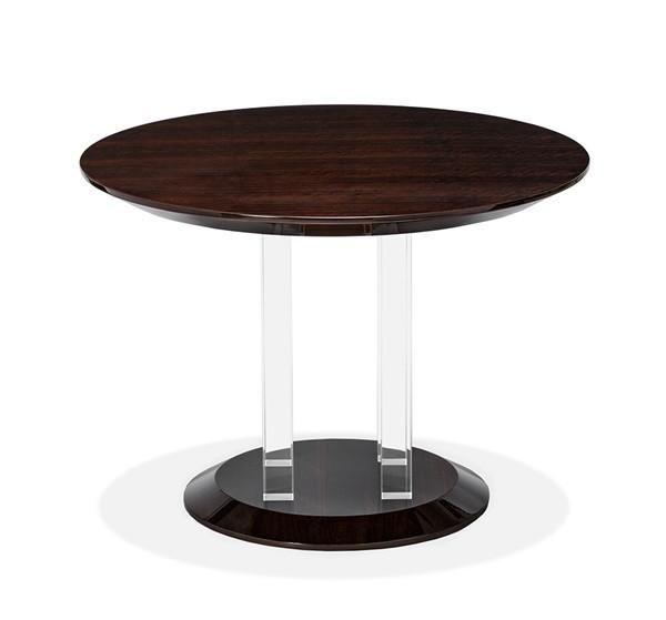 Karra 42 Dia Center Dining Table Figured Eucalyptus Clearance