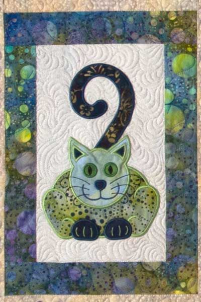 Cat's Meow quilt with machine embroidery, design by Lunch Box ... : lunch box quilts cats meow - Adamdwight.com