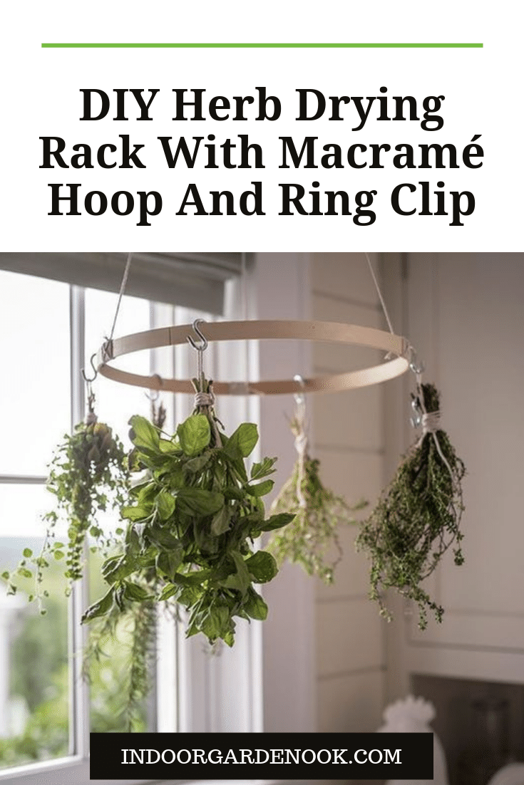 diy herb drying rack all you need to know to make one indoor garden nook herb drying racks drying herbs garden nook pinterest