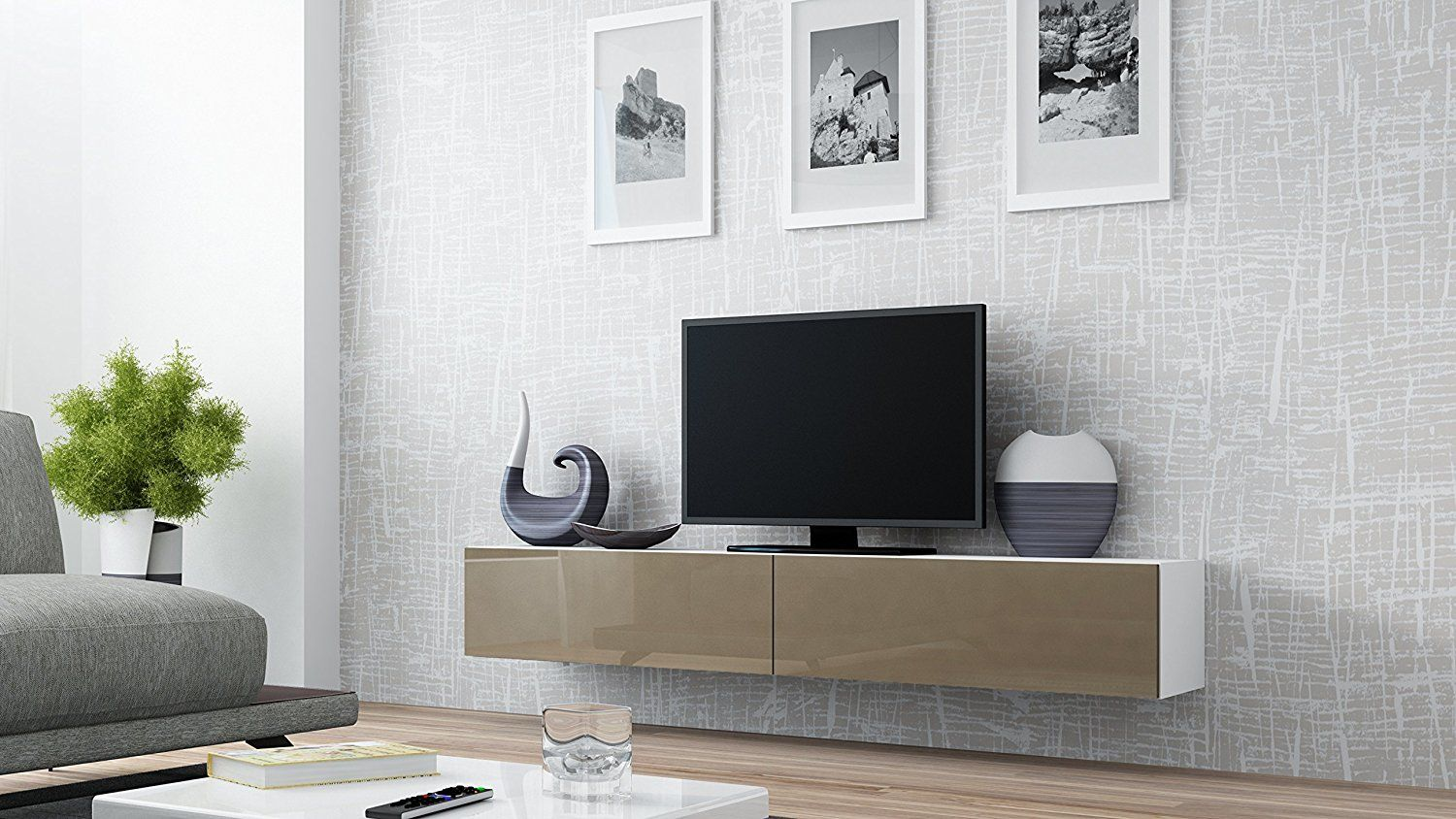 Small Living Room Design Ideas With Seattle Floating TV Cabinet – TV ...