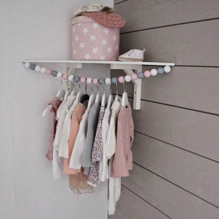 kinderzimmer idee kasten rosa mit sternen dekoration anhänger für, Schlafzimmer design