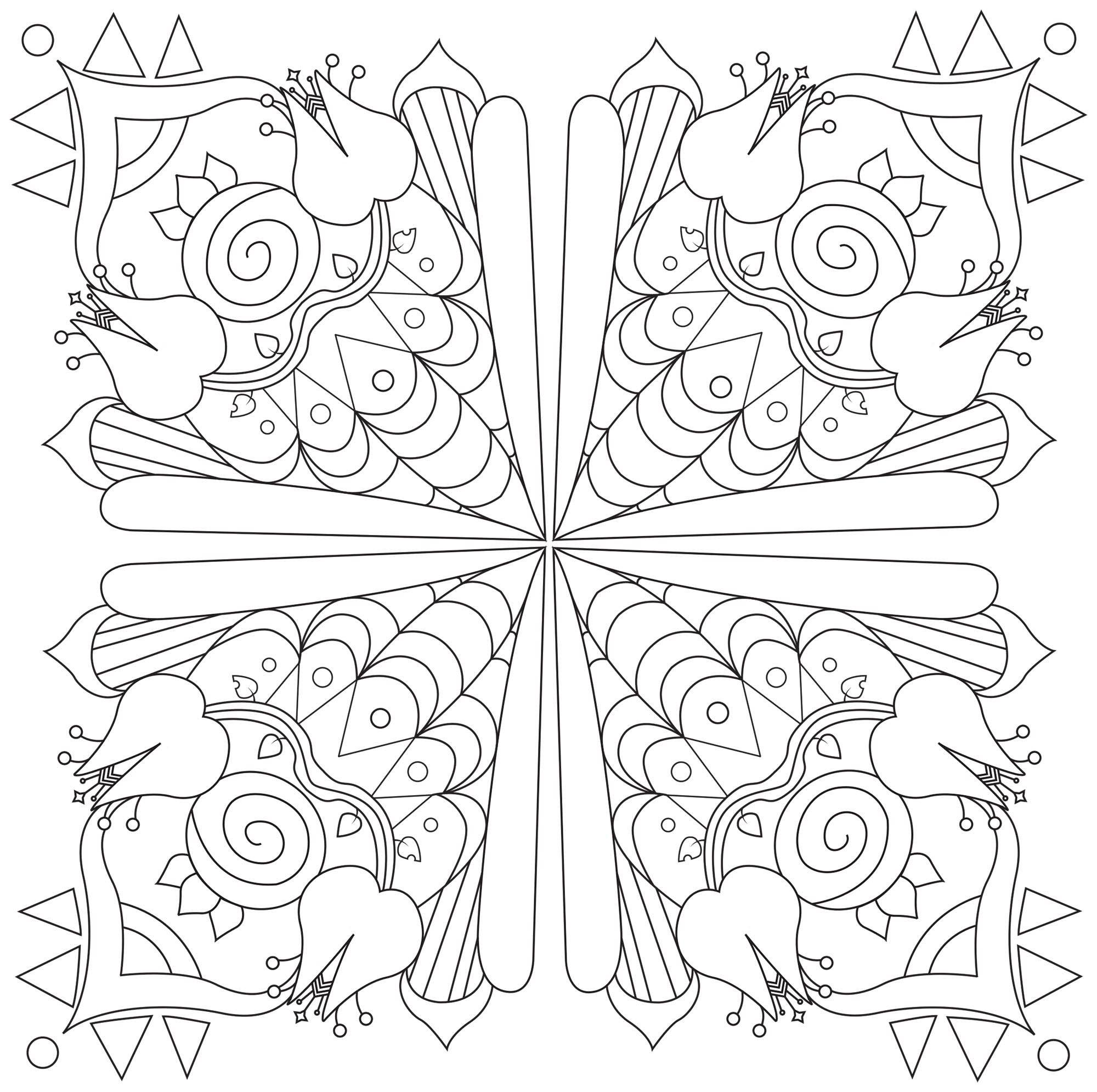 Neu Mandala Carre Kostenlose Malvorlagen Tattoo Designs