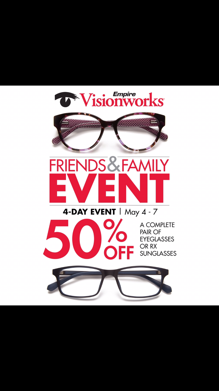 Save 50 Off Glasses At Our Friends And Family Event This Weekend