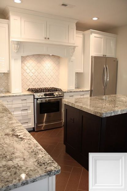 Backsplash Ideas For White Cabinets And Gray Countertop