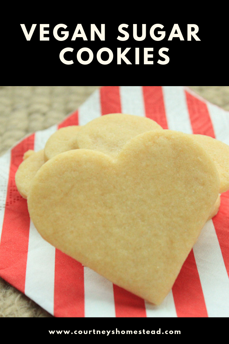 Easy Vegan Sugar Cookies #sugarcookierecipe