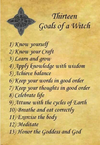 13 Rules of Being a Wiccan or Witch | wiccan/pagan | Book of