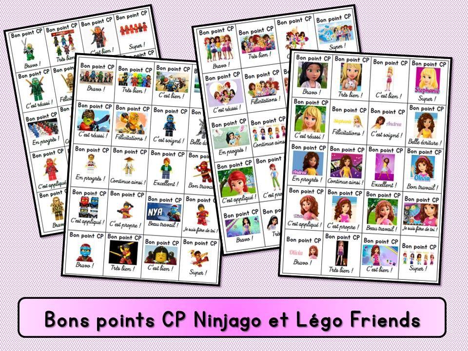 Bons points cp ninjago et l go friends - Ecole lego friends ...