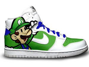 cartoon character nike dunks