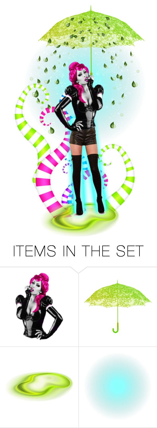 """""""Colorful Doll... ☔️"""" by maryv-1 ❤ liked on Polyvore featuring art"""