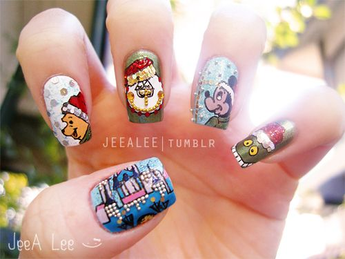 Jeealee disney christmas nails nail art pinterest disney jeealee disney christmas nails prinsesfo Choice Image