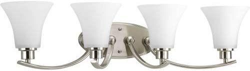 Photo of Progress Lighting P2003-09 Joy Collection 4-light washstand lamp made of brushed nickel