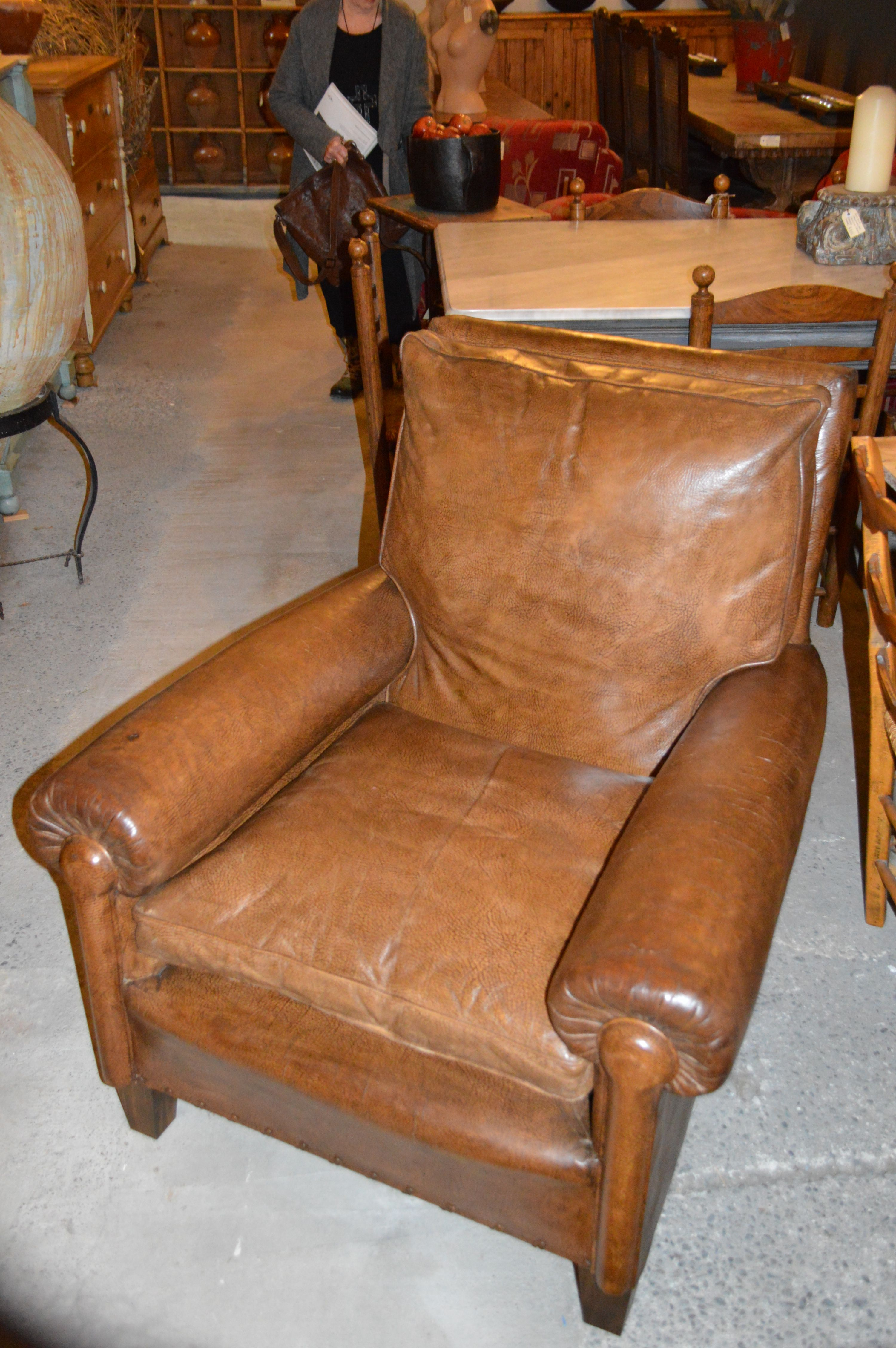 1920 S Leather Chair From Country Trader New Zealand Chair Style Club Chairs Leather Chair