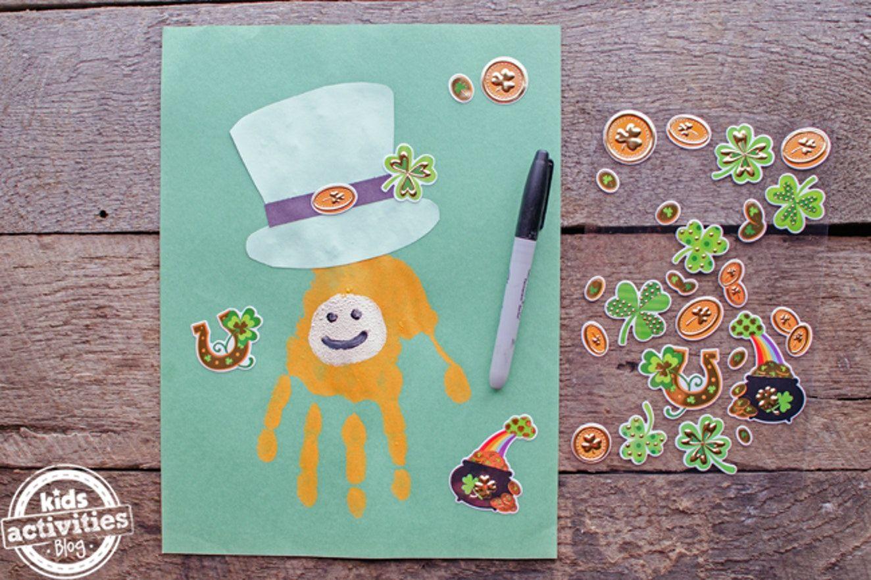 Handprint Leprechaun Craft