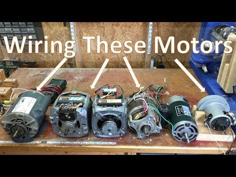 035. How To Wire Most Motors For Shop Tools and DIY Projects - YouTube #homemadetools
