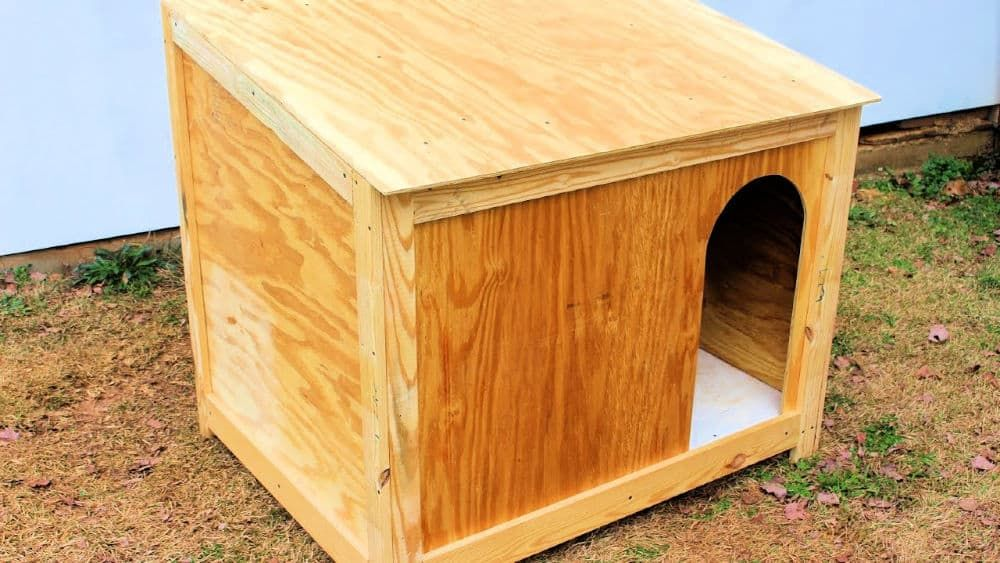 50 Free Diy Dog House Plans To Build A Dog House Cheaply In 2021 Large Dog House Large Dog House Plans Dog House Plans