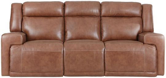 Surprising Sanibel Dual Power Leather Sofa Brown Art Van Furniture Uwap Interior Chair Design Uwaporg